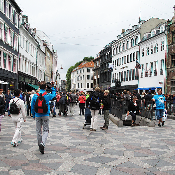 Pedestrians in Copenhagen Center