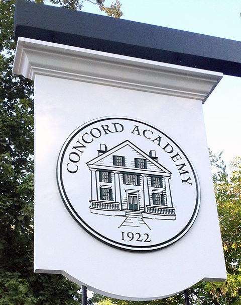 Concord Academy Sign