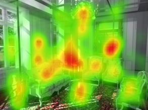 Living Room Without People Heatmap