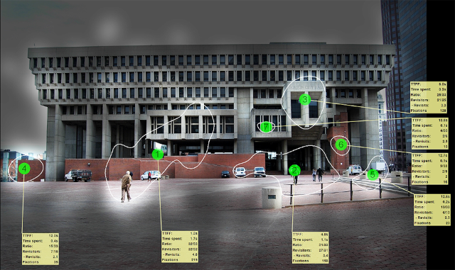 Eye Tracking Boston City Hall Plaza